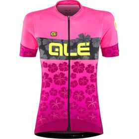 Alé Cycling PRS Ibisco Kortermede Sykkeltrøyer Dame Rosa/rød